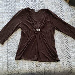 Nice flattering brown top dressy